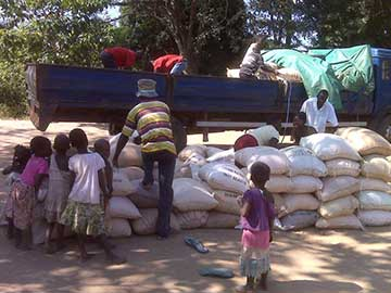 Distribution of food in Northern Karonga